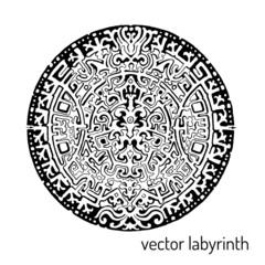 Mandala labyrinth abstract ornament