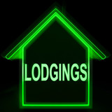 Lodgings Home Means Rooms Accommodation Or Vacancies poster