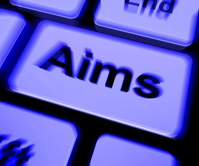 Aims Keyboard Shows Targeting Purpose And Aspiration