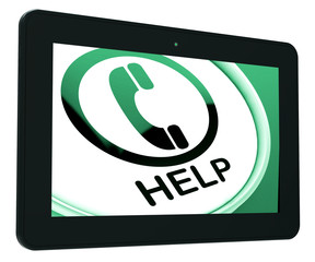 Help Tablet Shows Call For Advice Or Assistance