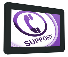 Support Tablet Shows Call For Advice