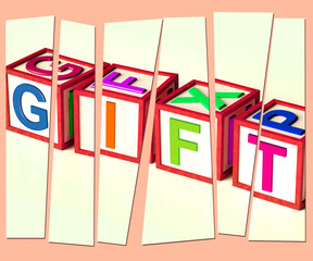Gift Letters Mean Giveaway Present Or Offer