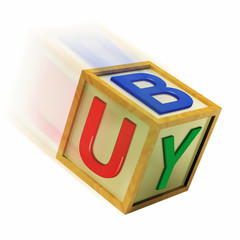 Buy Wooden Block Means Retail Shopping And Commerce
