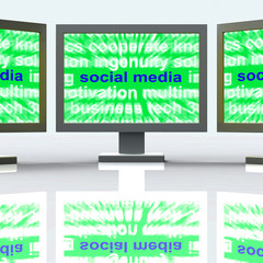 Social Media Laptops Mean Online Networking Blogging And Comment