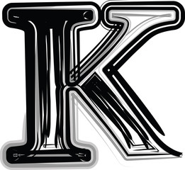 Freehand Typography Letter K