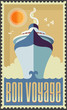 Vintage retro cruise ship vector design - Holiday travel poster - 66026642