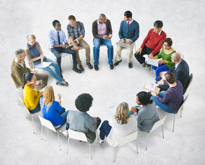 Group of Multiethnic Diverse People Brainstorming