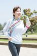 運動後の女性
