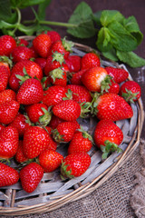 Ripe sweet strawberries