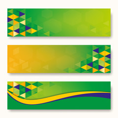 Label Abstract background Brazil Flag concept