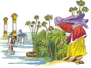 Moisés salvado de las aguas del Nilo