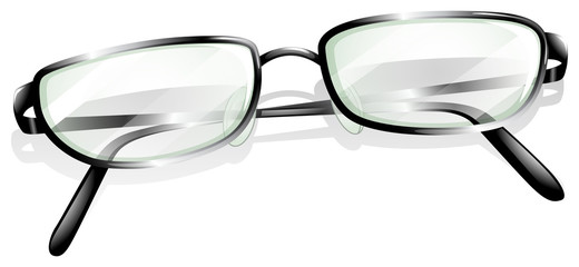 A topview of an eyeglass