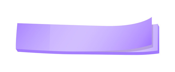A topview of a lavender colored paper post-it