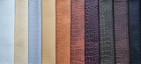 Fototapety colored leather