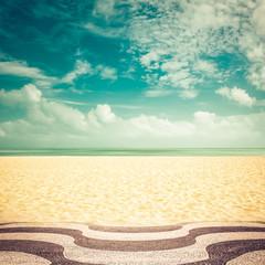 Sunshine on Copacabana Beach, Rio de Janeiro - vintage look