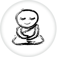 Buddhist monk meditation vector
