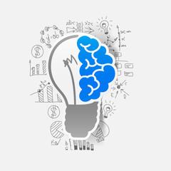 Drawing business formulas: lightbulb