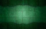Green Grunge Textured Curtain Frame Background