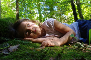 rêverie en forêt