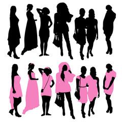 Girls Silhouettes Set