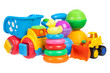 baby toys collection isolated on white - 66031611