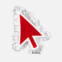 Drawing business formulas: cursor