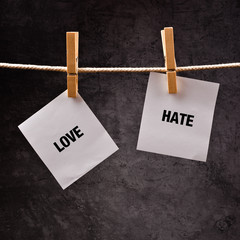 Love or hate conceptual image