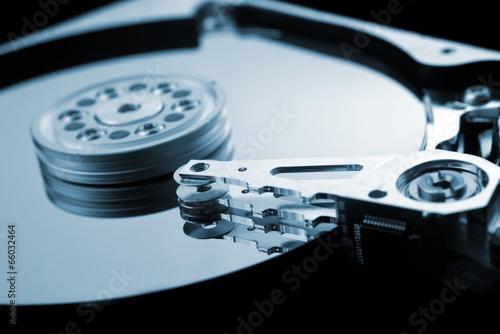 Computer hard disk close up detail - 66032464