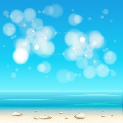 Summer Holidays beach background