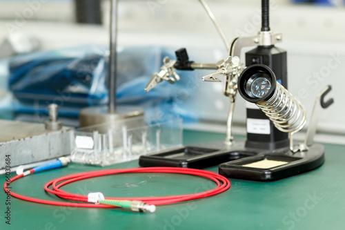 Leinwanddruck Bild electronics equipment assembly workplace
