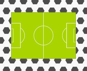 Fußball Muster Spielfeld