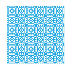 Blue  ethnic modern geometric seamless pattern ornament