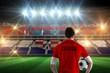 Composite image of croatia football player holding ball