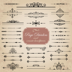 Page Dividers and ornate headpieces