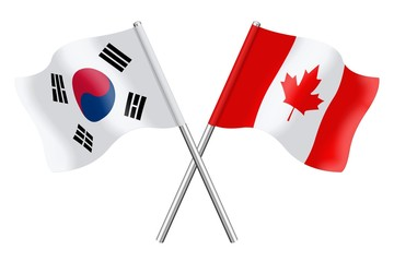Flags : South Korea and Canada