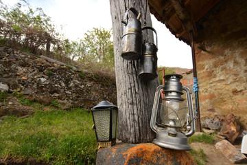 lamparas y faroles vintage