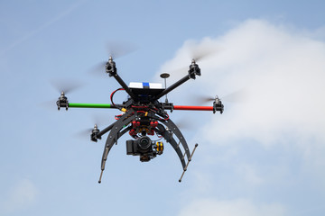 Drohne, Hexacopter mit Kamera