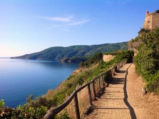 scenic walkpath in Porto Azzurro