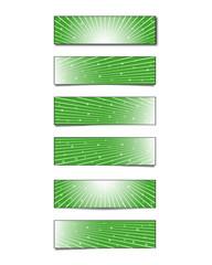 Green-striped banner