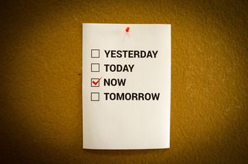 """""""Do it now"""" motivation concept"""