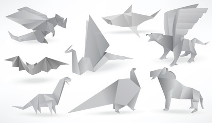 Origami animals (black & white)