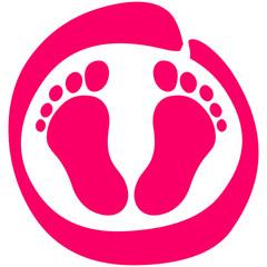 Baby Füße Fußabdruck
