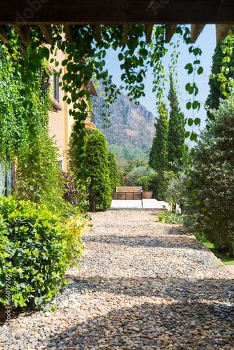 pebble foot path tuscany style