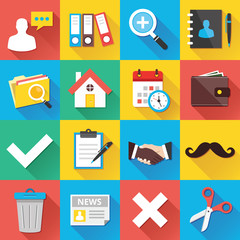 Modern Flat Icons for Web and Mobile Applications Set 12