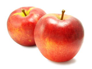 Two yellow-red sweet apples