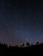 canvas print picture - Nachthimmel über dem Ostallgäu