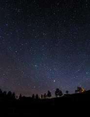 Nachthimmel über dem Ostallgäu