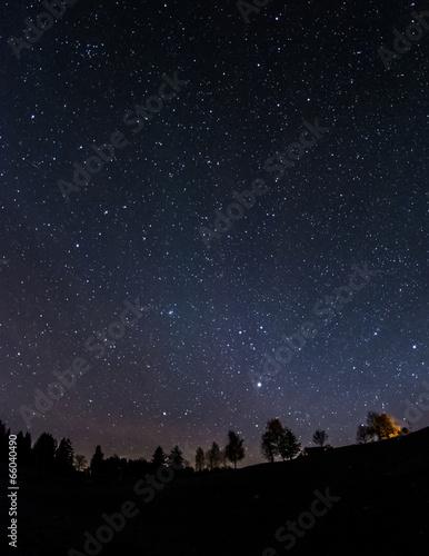 canvas print picture Nachthimmel über dem Ostallgäu