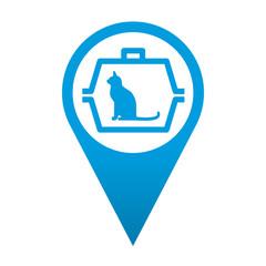 Icono localizacion simbolo transportin para gatos