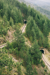 Tunnel on the railway track
